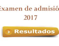 Resultados de Admisión 2017